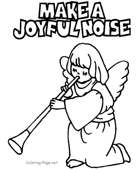 christian coloring page make joyful noise