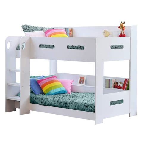 white bunk beds sky white bunk bed ladder can be fitted either side furniture123