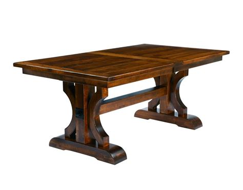 rustic trestle dining room tables amish trestle dining table with plank top