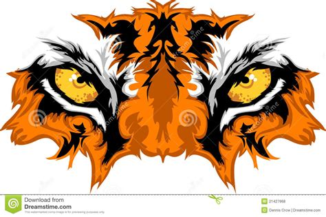 tiger eyes vector graphic stock vector illustration of