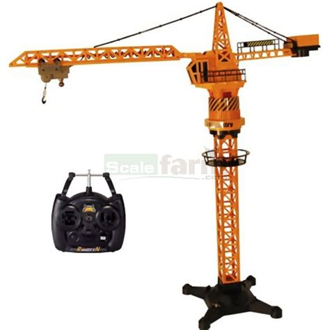 Rc Tower Crane Mainan Remote Crane hobby engine 0814 remote tower crane