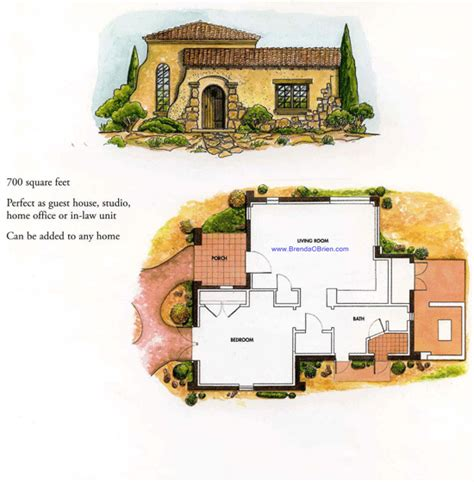 casita and courtyard classic 36812jg architectural house plans with detached casita