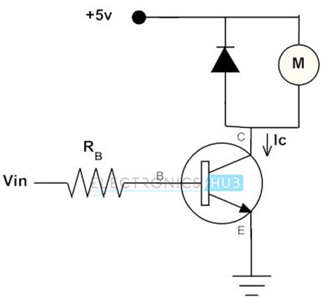 transistor drive working of transistor as a switch npn and pnp transistors