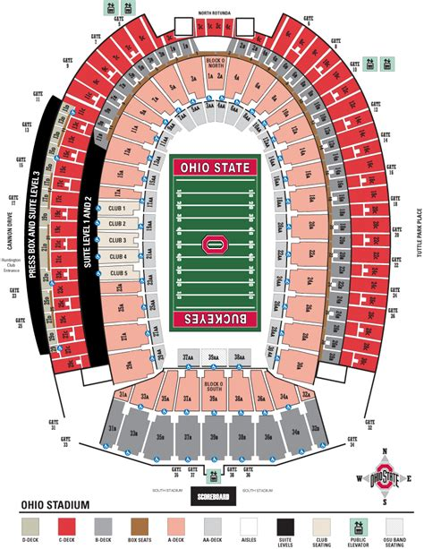 section 3c four 4 ohio state vs minnesota football tickets 11 07