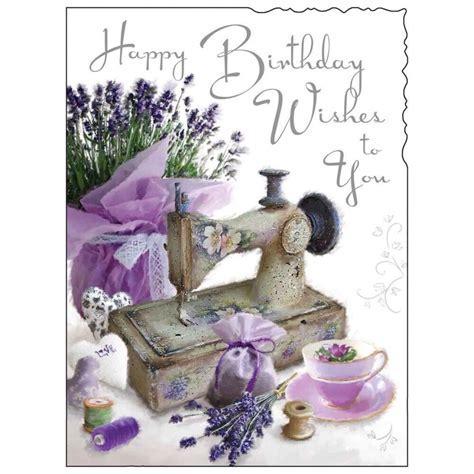 Birthday Card Female ~ Lady Happy Birthday ~ Sewing