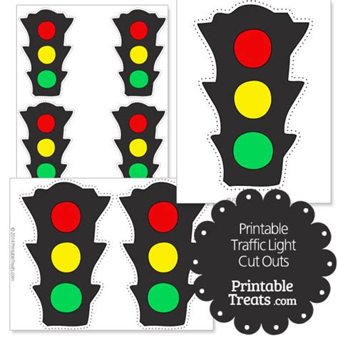 Printable Traffic Light Cut Outs Printable Treats Com Printable Traffic Light