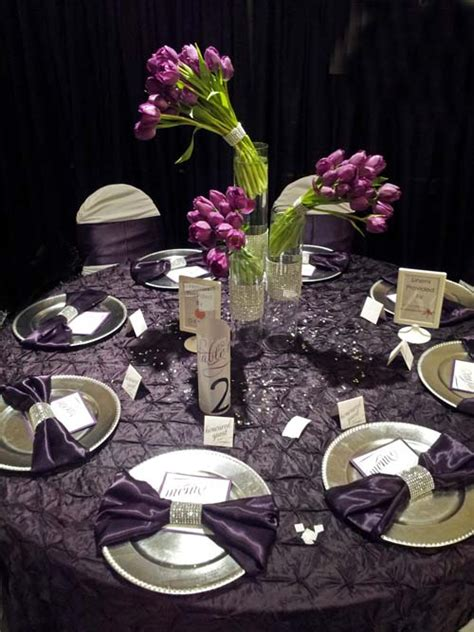 Centerpiece Archives Dahlia Floral Design Purple And Silver Wedding Centerpiece Ideas
