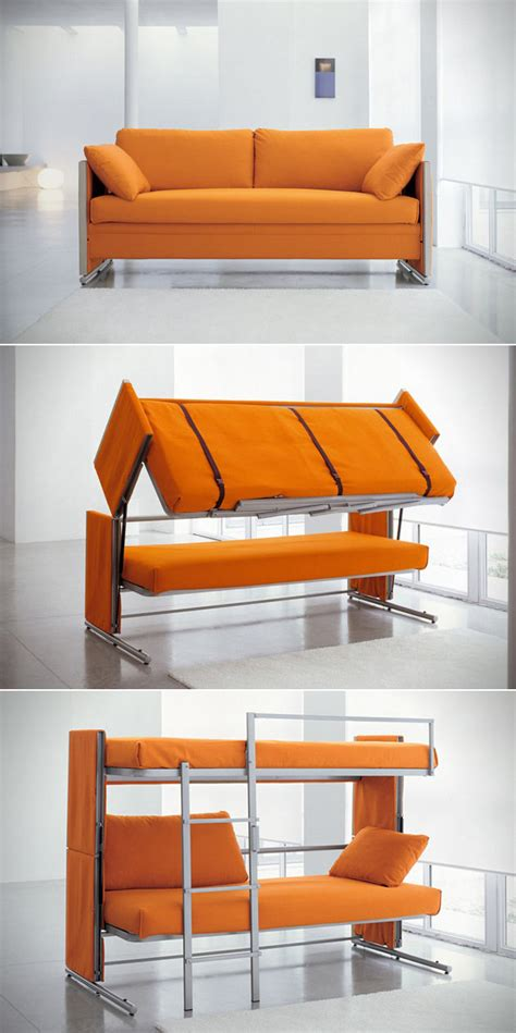 Doc Sofa Bunk Bed Transforms From Sitting To Sleeping Doc Bunk Bed