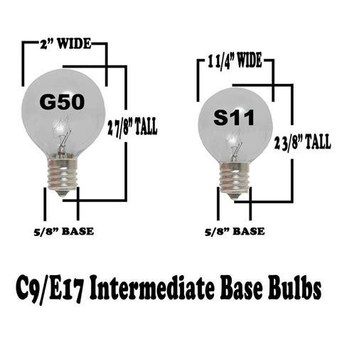 e17 intermediate base led light bulbs s11 clear sign bulbs 10 watt e17 base novelty lights inc