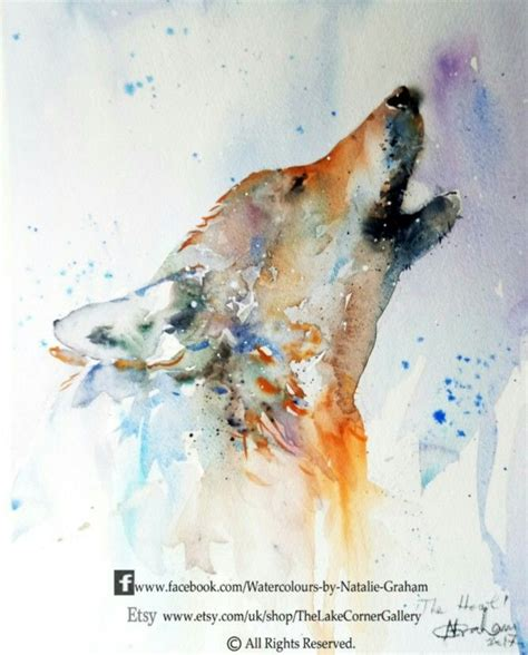 watercolor wolf tutorial 22 best art natalie graham watercolor images on