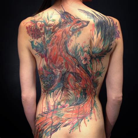 steunk tattoos back steunk watercolor tattoos best
