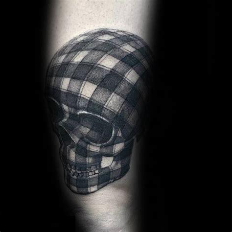 plaid tattoo designs 50 3d skull designs for cool cranium ink ideas