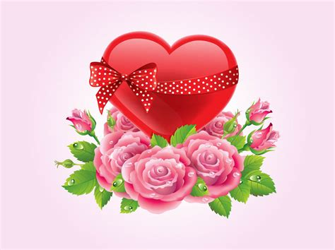 roses and hearts hearts and roses vector vector graphics freevector