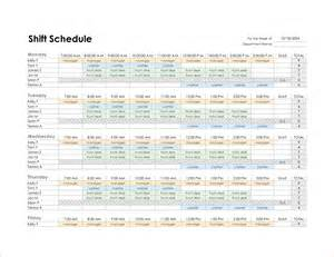 Monthly Schedule Template Excel 4 monthly schedule template excel procedure template sle