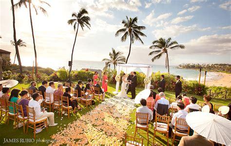 rebecca peter wedding  seasons maui  wailea