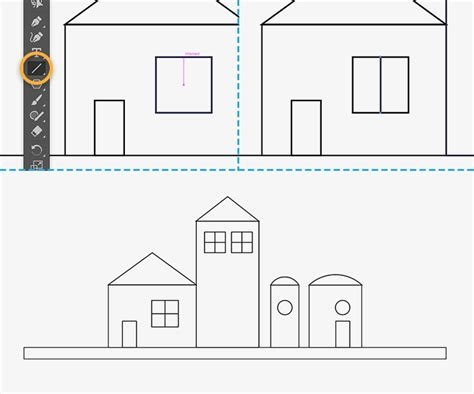 draw building how to draw buildings with shapes adobe illustrator cc