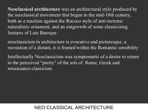themes in neoclassical literature neo classical architecture