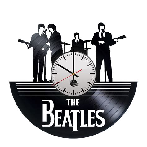 The Handcrafter - the beatles handmade vinyl record wall clock fan gift