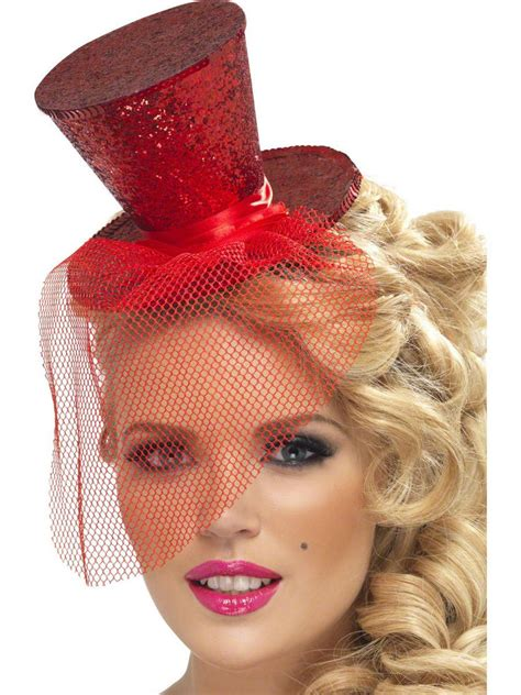 mini top hat mad hatter costume flapper feather womens