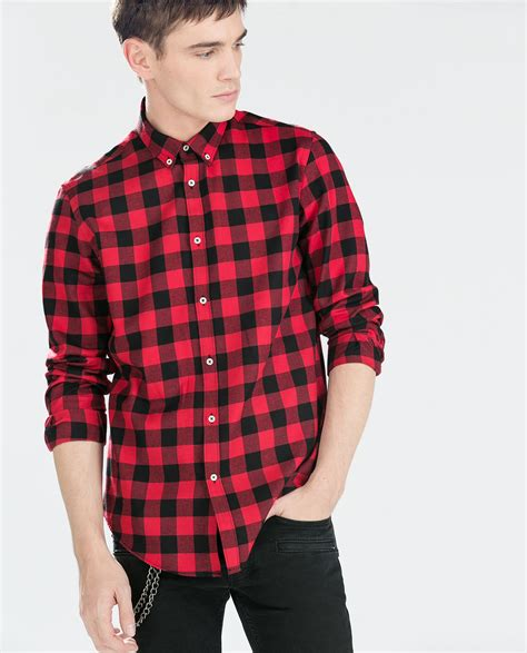 Things X Topman Two Tone Sleeve Item zara two tone checked flannel shirt in for lyst