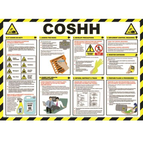 diagram poster coshh poster wall chart ese direct