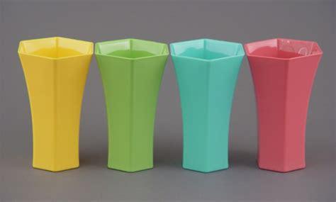 8 quot hexagon plastic flower vase