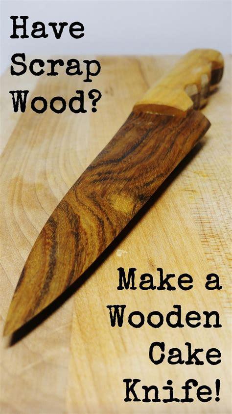 wooden cake knife lazy guy diy wood