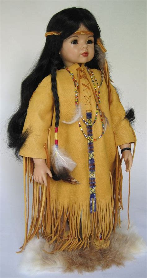 porcelain doll american indian 20 inch american indian porcelain doll by
