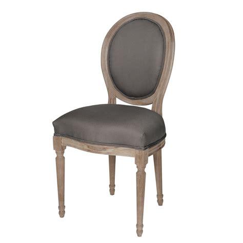 chaise m 233 daillon en coton et ch 234 ne massif grise louis