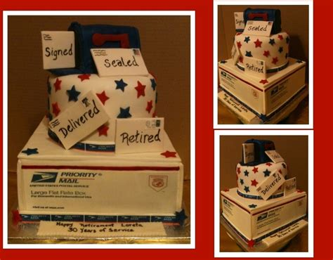 post birthday cake usps retirement cake cakecentral