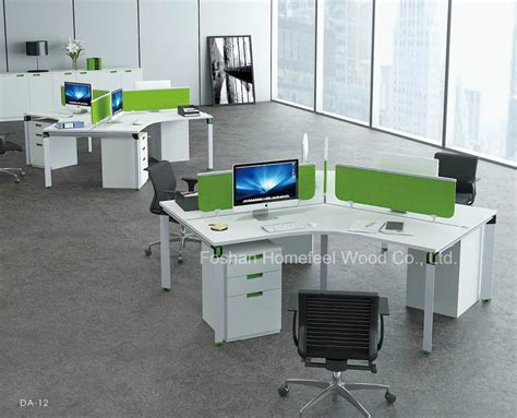 China Contemporary Small Modular Office Cubicle 120 Degree Office Desk Workstation