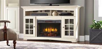 Antique Media Console Fireplace Entertainment Center The Home Depot