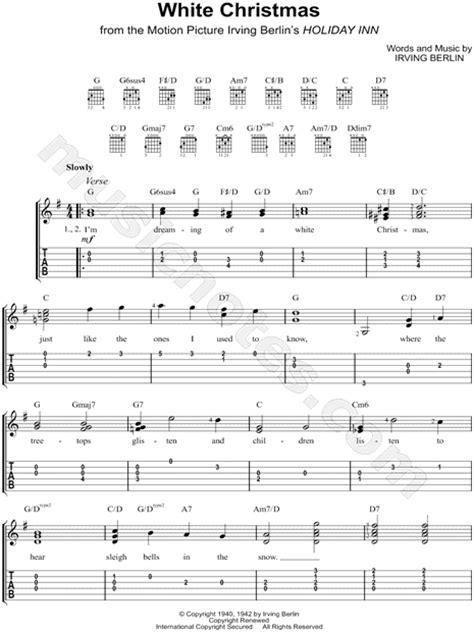 white christmas  holiday inn guitar tab   major  print sku mn