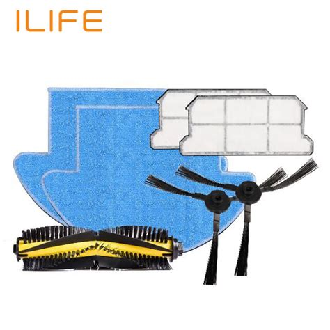 Brush Spare Part Robot Vacuum Cleaner Iclebo Arte ilife v7s robot vacuum cleaner parts spare replacement kits cleaning robot vacuum filter side