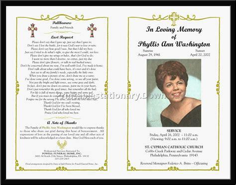 funeral program template qualads