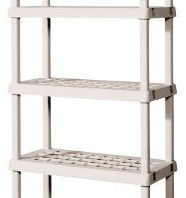 sterilite 5 shelf shelving unit 75 125 x 36 x 18 inches