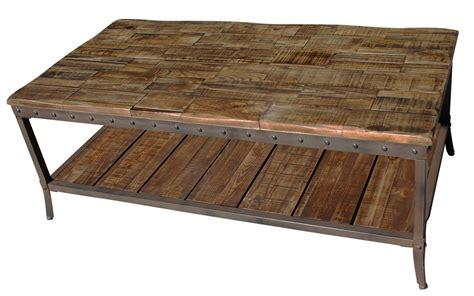 Rustic Wood And Metal Coffee Table Distressed Wood And Iron Coffee Table Rustic Coffee Table Ppinet