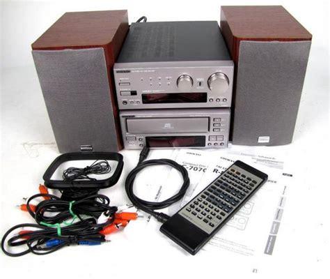 onkyo r 805x shelf stereo system w c 707chx cd disc