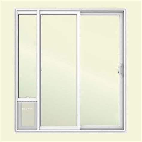 jeld wen 72 in x 80 in white right vinyl patio door