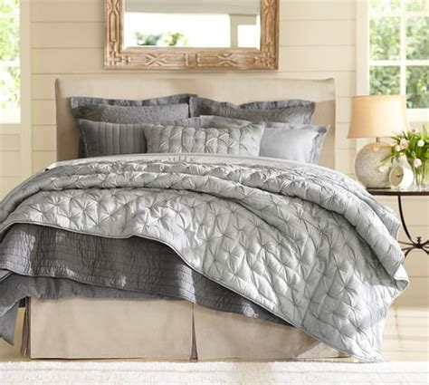 pottery barn coverlet isabelle tufted voile quilt shams pottery barn