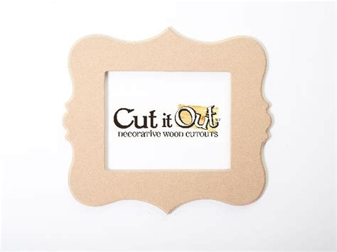 decorative wood cut out frames supply