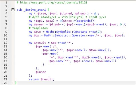 perl script template how to do it in padre