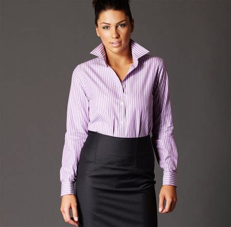 Shjt217122810845 Blouse Zara Blouse Motif Garis Zara Murah upturned blouse collar white frilly blouses