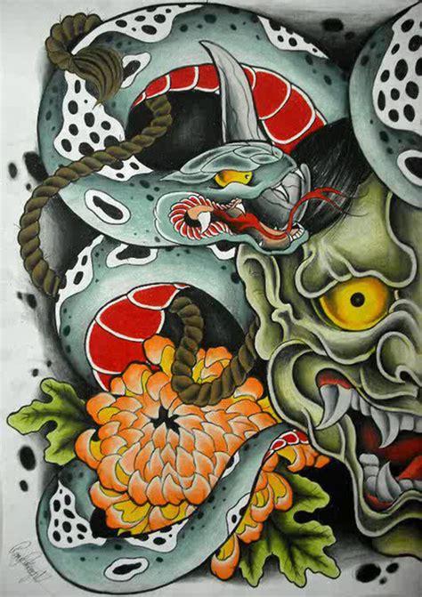 hannya mask tattoo art hannya mask on tumblr