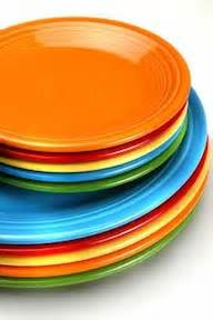 colorful plates how the size of dinner plates affect portion