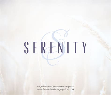 logo for sale uk serenity logo for sale fiona robertson graphics