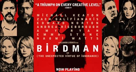birdman movie birdman or the unexpected virtue of ignorance pop verse