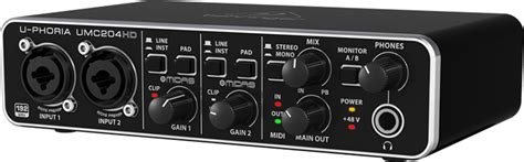 Sound Card Usb Behringer review of external sound card behringer u phoria umc204hd with midas prelifiers for 80 usd