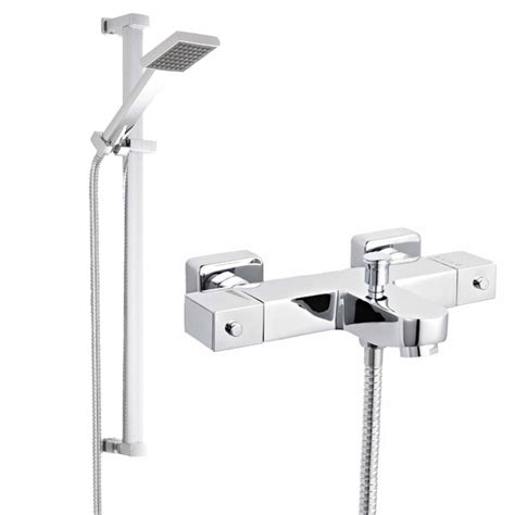 wall mounted thermostatic bath shower mixer ultra wall mounted square thermostatic bath shower mixer
