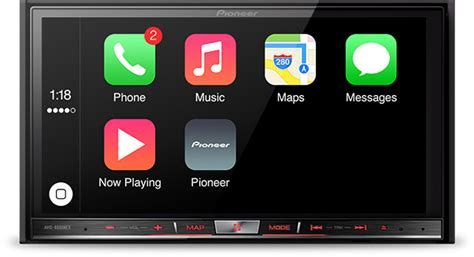carplay for android pioneer s aftermarket in dash systems with carplay support now available mac rumors